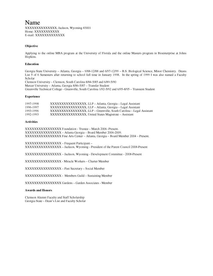Student Resume Samples - Resume Prime - resume sample for graduate school