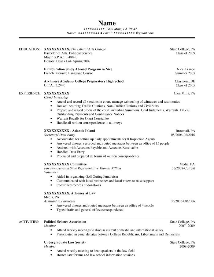 Student Resume Samples - Resume Prime - science resume example