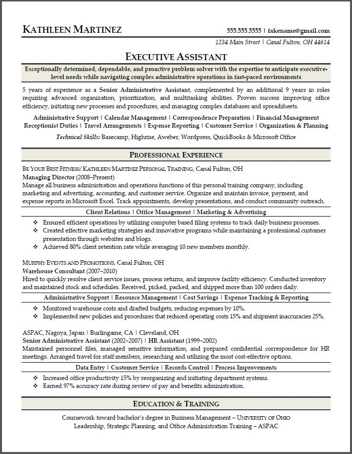 Cerritos College - ESL Student Resources administration executive - sample resume admin assistant