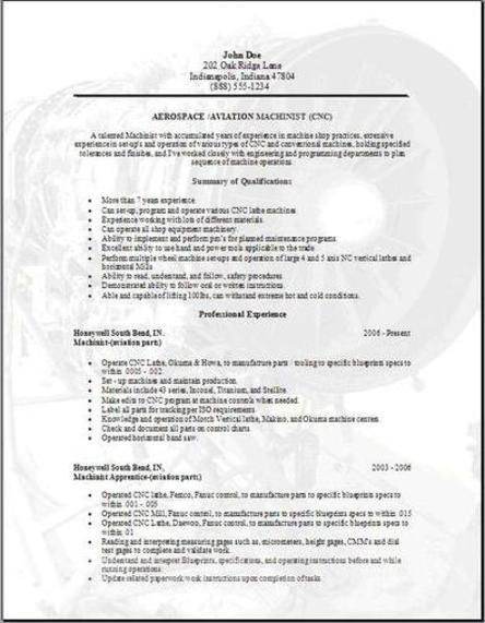 Aerospace Aviation Resume, Occupationalexamples, samples Free edit