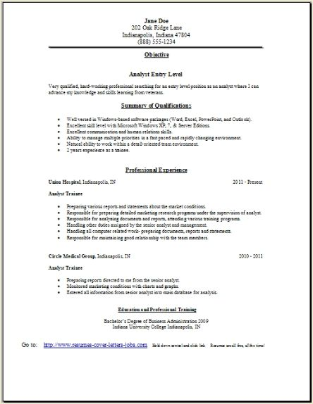 sample cover letter in resume