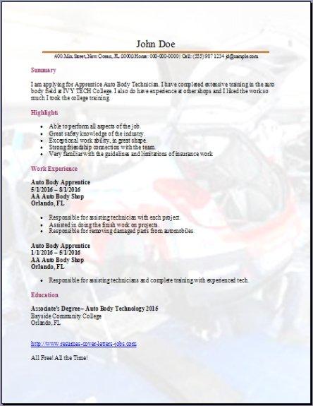 resume samples for job interview