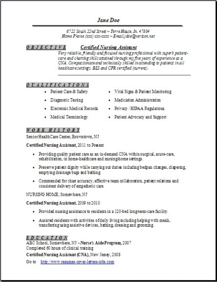 Certified Nursing Assistant Resume,examples,samples Free edit with - certified nursing assistant resume