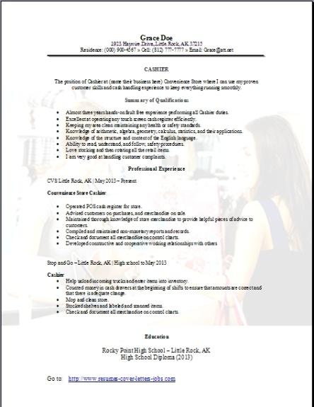 money handling resume examples