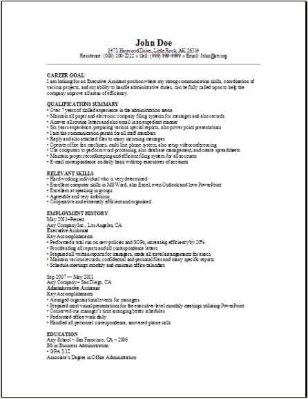 Overleaf Real-time Collaborative Writing and Publishing Tools with - executive administrator sample resume