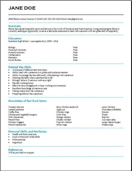 free resume samples for download