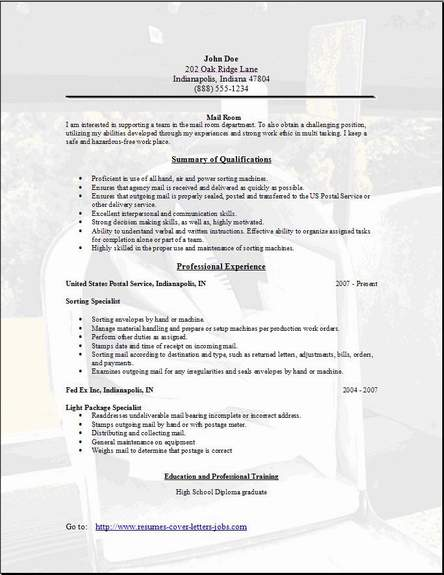 format of a cover letter for a resumes
