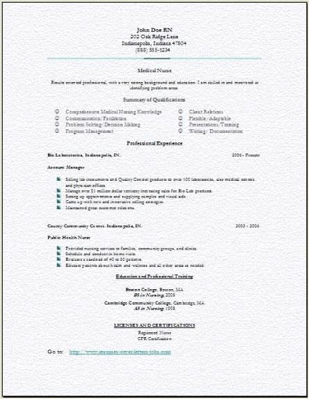 neuroscience nurse resume sample
