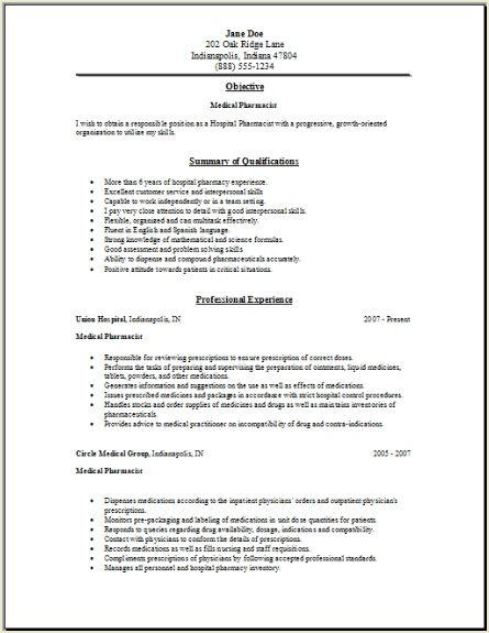 Rate My Resume Response to Rate my Resume 2010 04 12 07 32 36 – Pharmacy Technician Resumes
