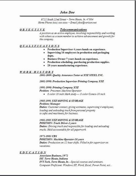 telecommunication resume - Selol-ink