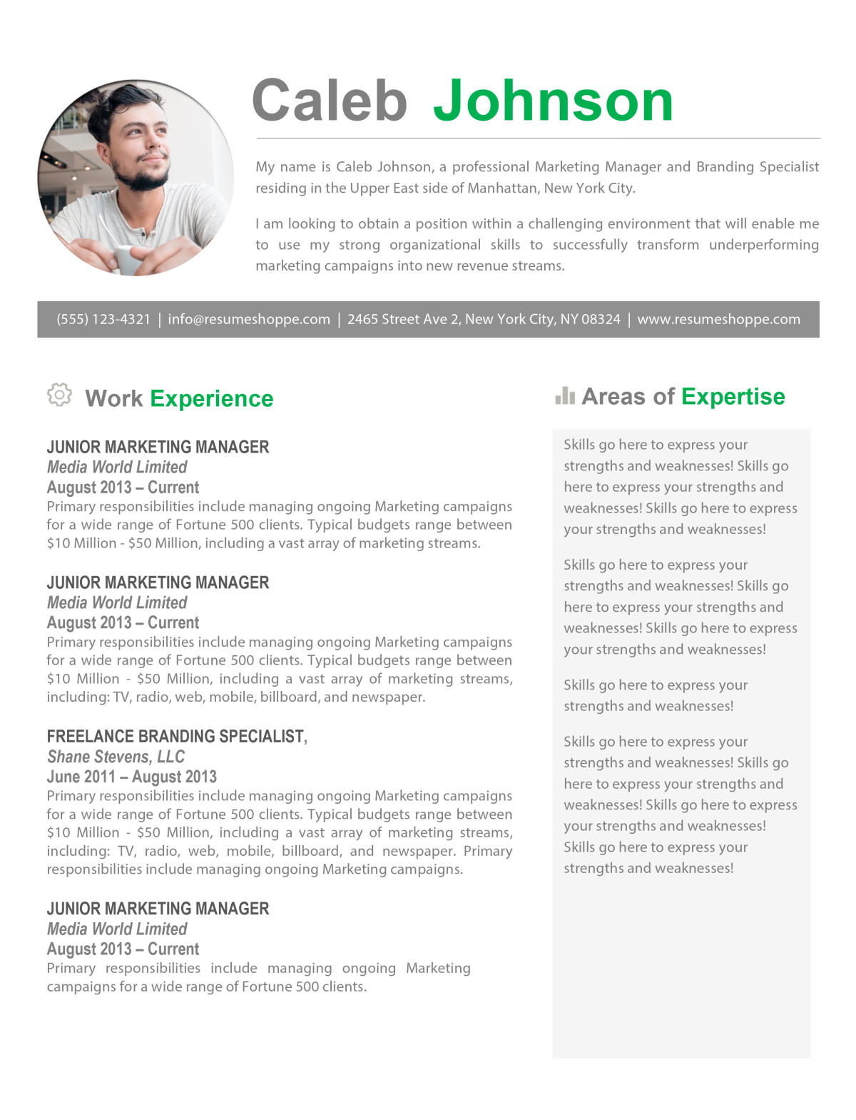 word cv template apple