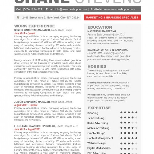 Creative Resume Templates - Secure the JobResumeshoppe - Ms Word Resume Templates