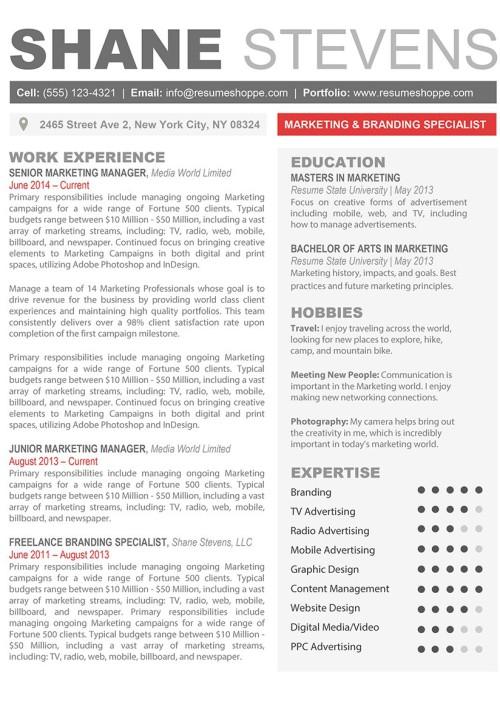 Creative Resume Templates - Secure the JobResumeshoppe