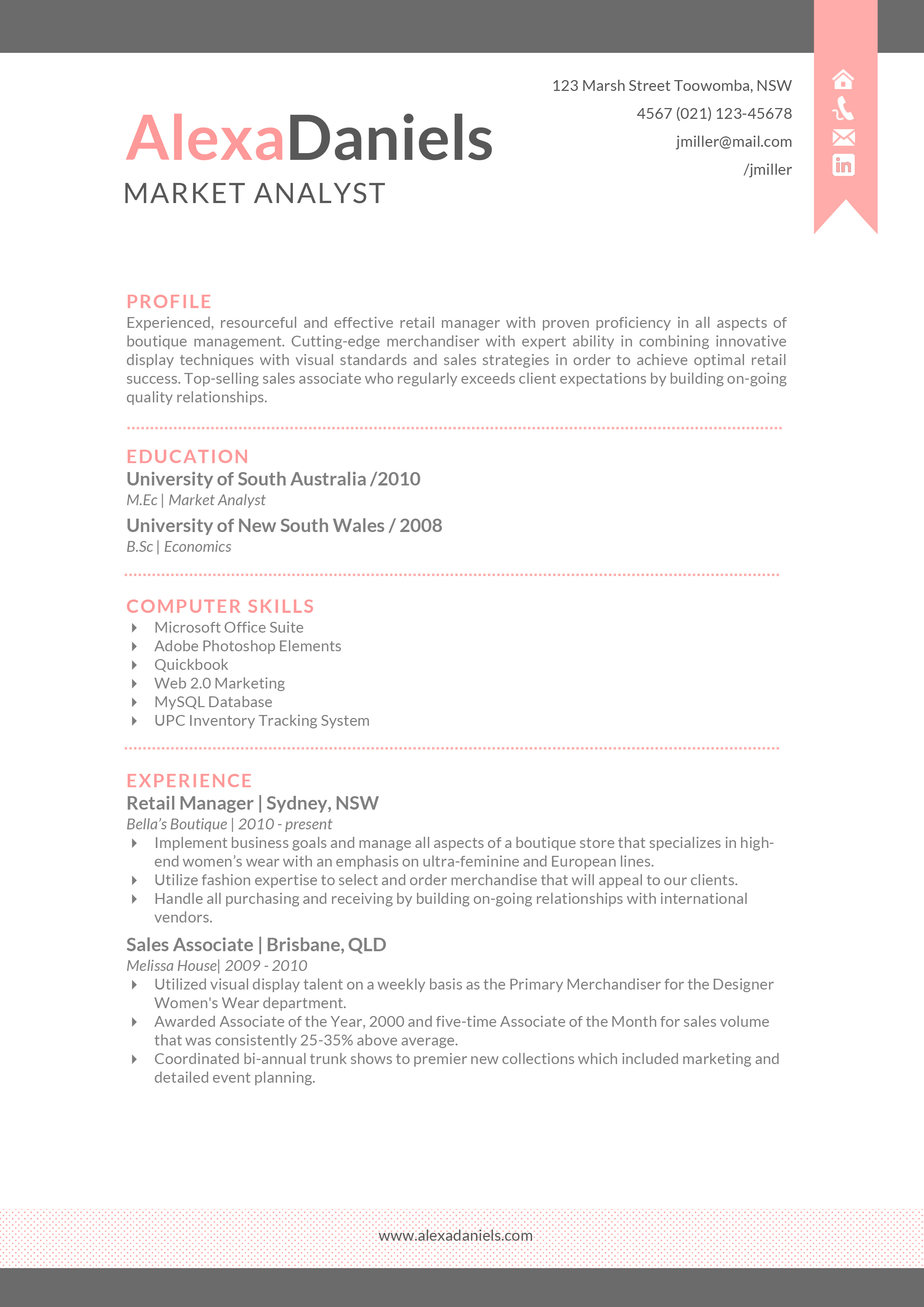 resume with picture word
