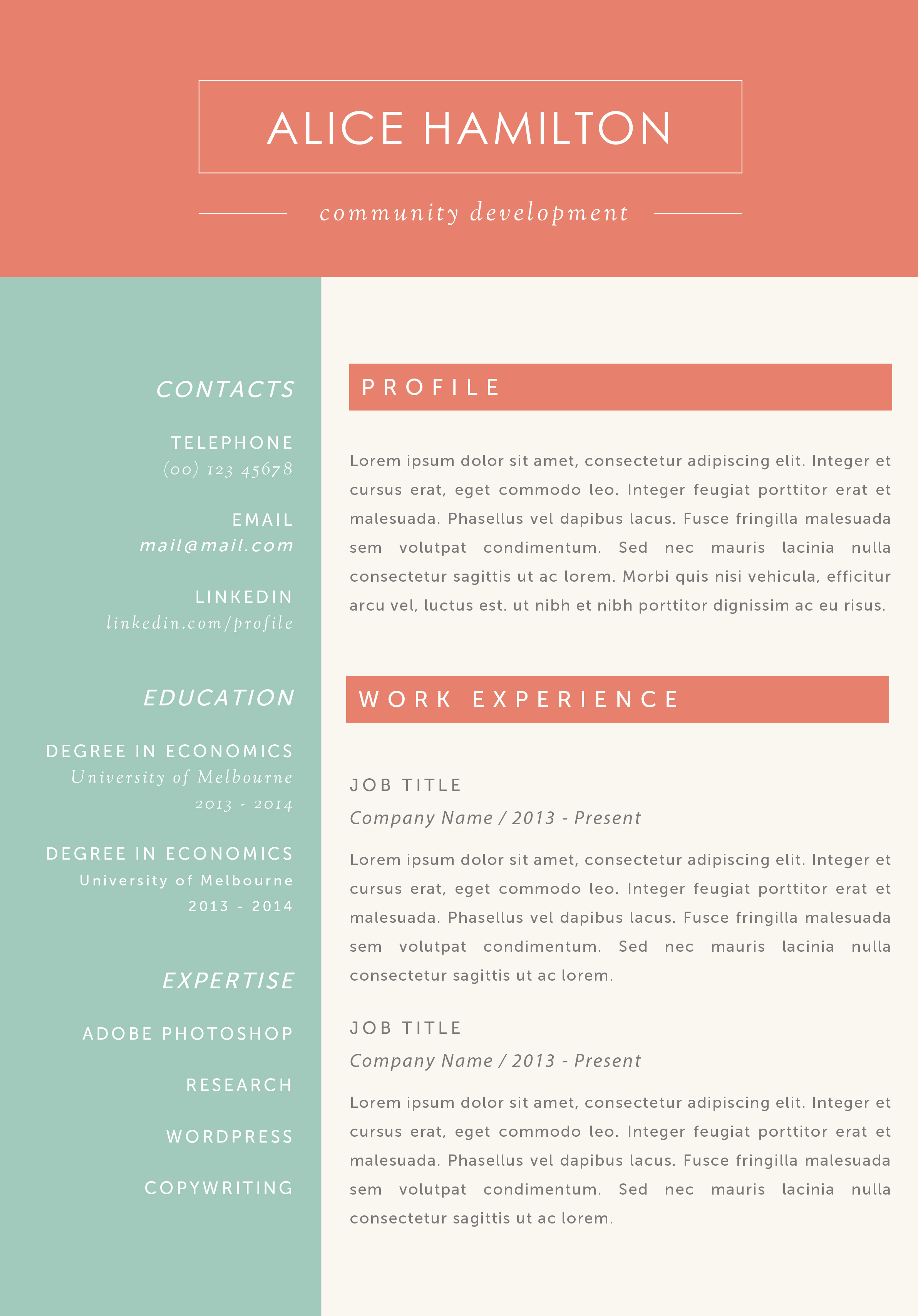 is there really a free resume template