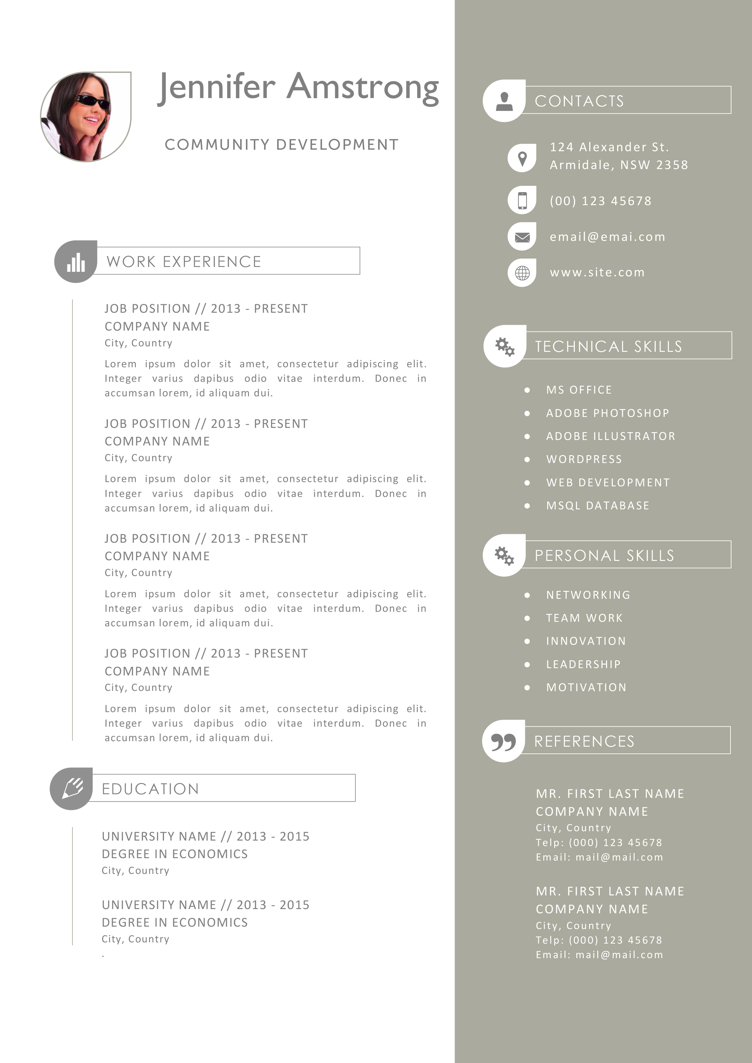 template cv pages mac gratuit