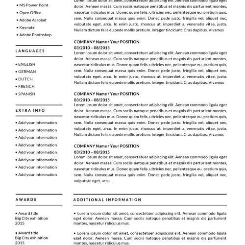 ✩Resume Templates for Mac (Word) \ Apple Pages Instant Download✩ - free template resume