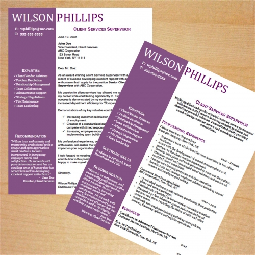 Customer Service Resume and Cover Letter Template - cover letter and resume template