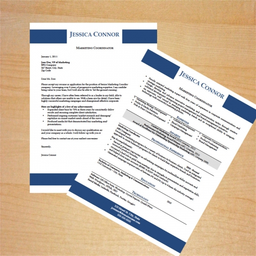 Marketing Coordinator Resume and Cover Letter Template - what goes on a cover letter for a resume