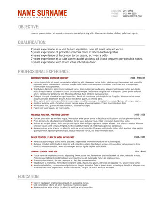 Building Maintenance Resume Best Sample Resume Resume Templates Australia – Professional Resume – Free