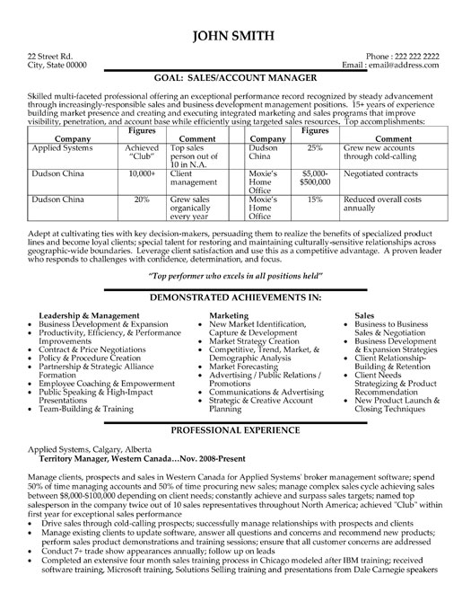 marketing manager sample resume radiovkm