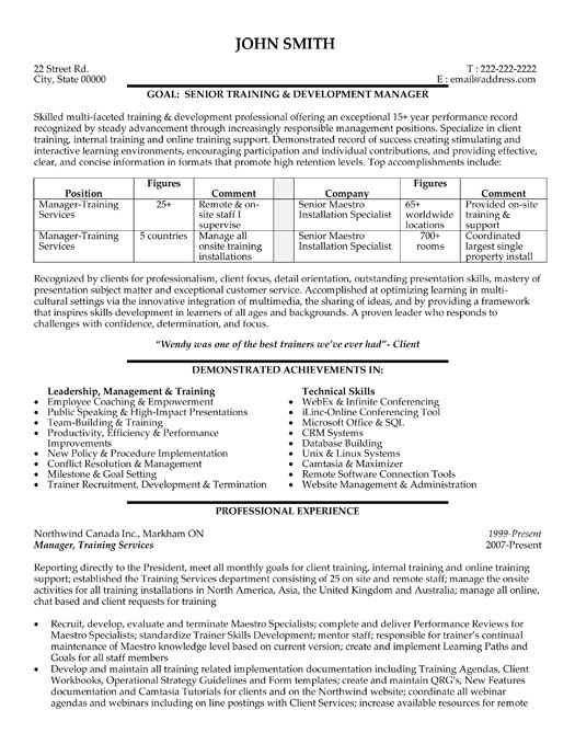 Trainer Sample Resume Trainer Resume Example 2 - www - online trainer sample resume