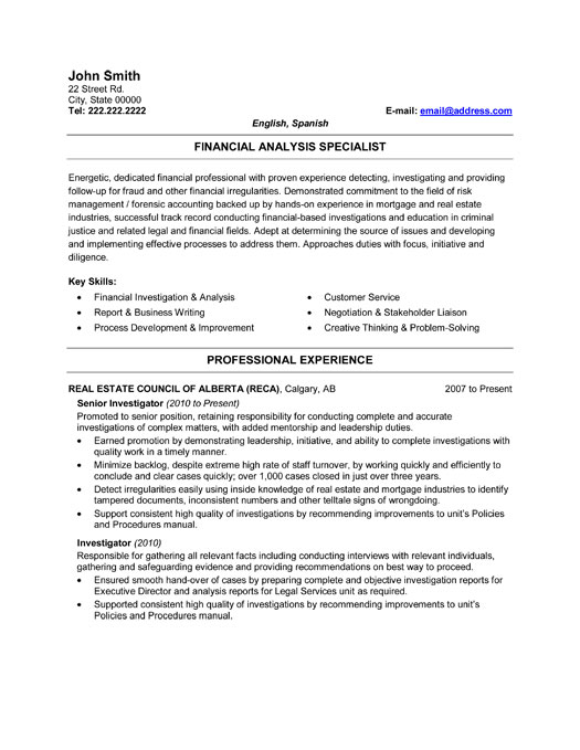 Private Investigator Resume - Windenergyinvesting
