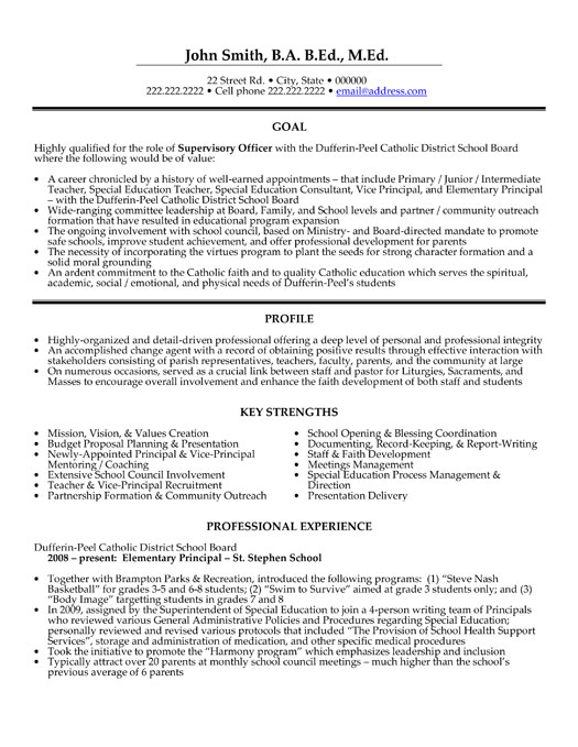 Supervisory Officer Resume Template Premium Resume Samples  Example