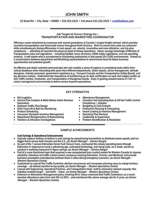 Coordinator Cv – Logistics Coordinator Resume