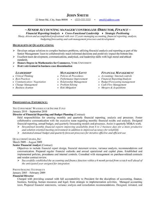 government style resume sample