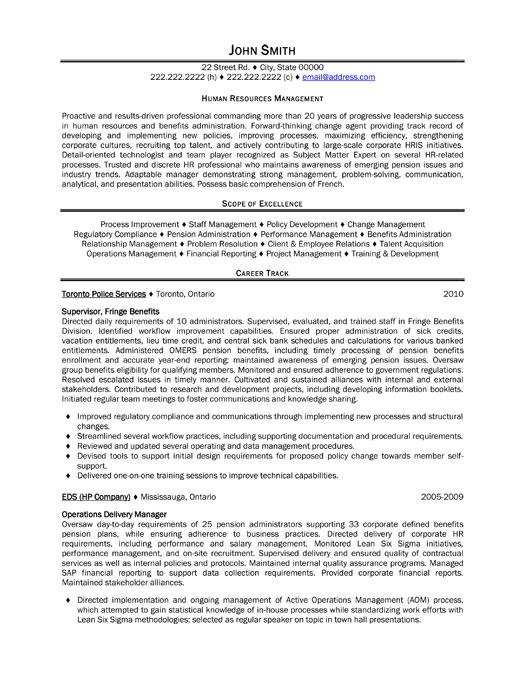 Human Resource Manager Resume rockcuptk – Hr Manager Resume Sample