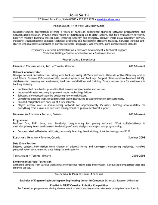 How To Write A Great Cv Save The Student Network Administrator Resume Template Premium Resume
