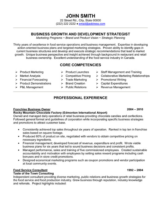Business Development Manager Sample Resume Career Faqs Business Model Owner Operator Business Model