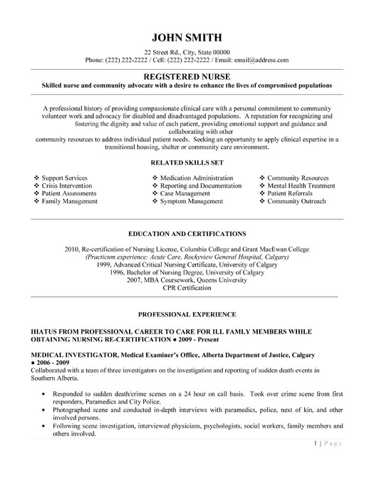 Sample Rn Resume For New Graduates How To Write An Exceptional New Grad Nursing Resume Application Letter Template Nurse