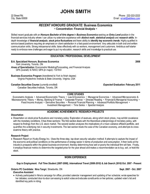 Financial Analyst Resume Examples - management and program analyst resume