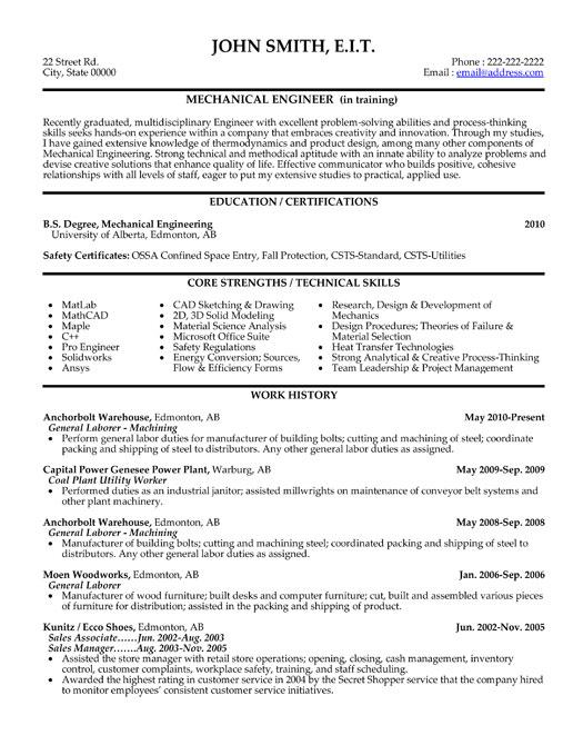 mechanical engineer cv format xv-gimnazija