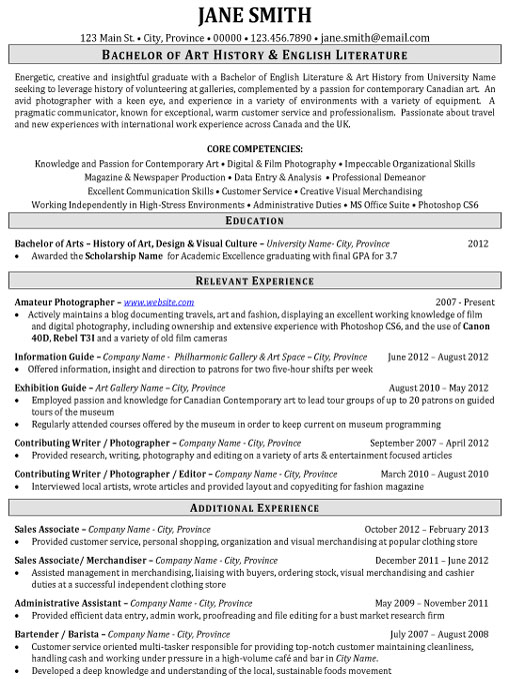 example of inventory resume