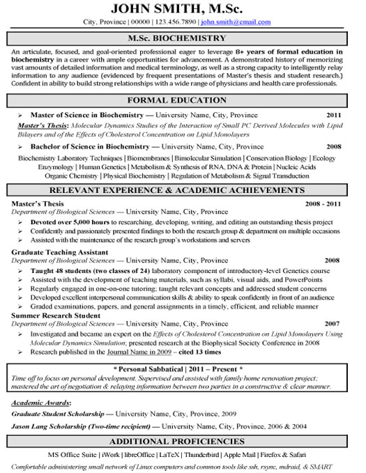 resume examples for research scientist in pharmaceutical
