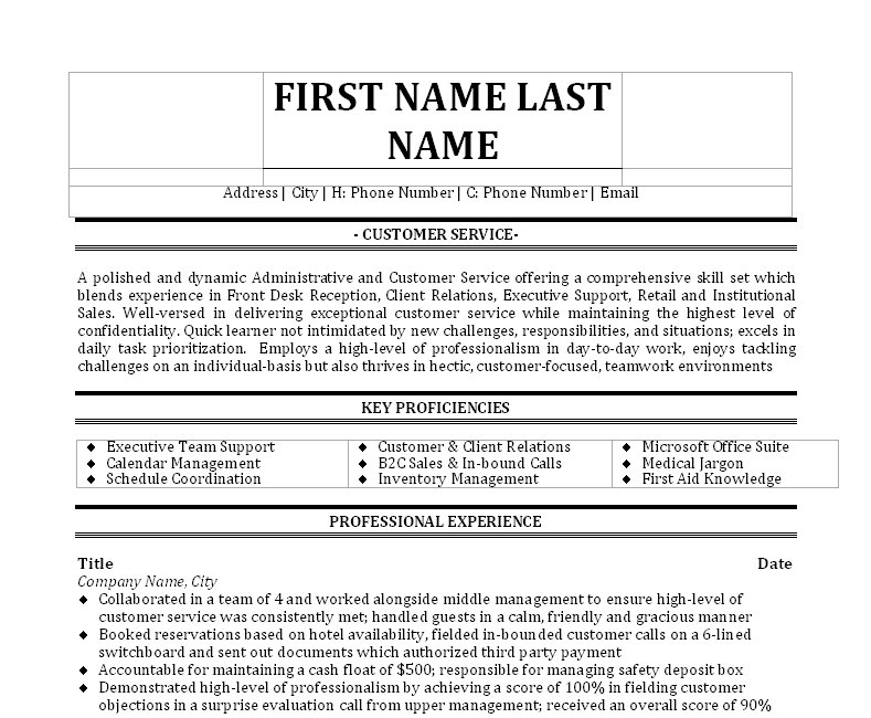 Sample Resume For Front Office Receptionist front desk agent resume