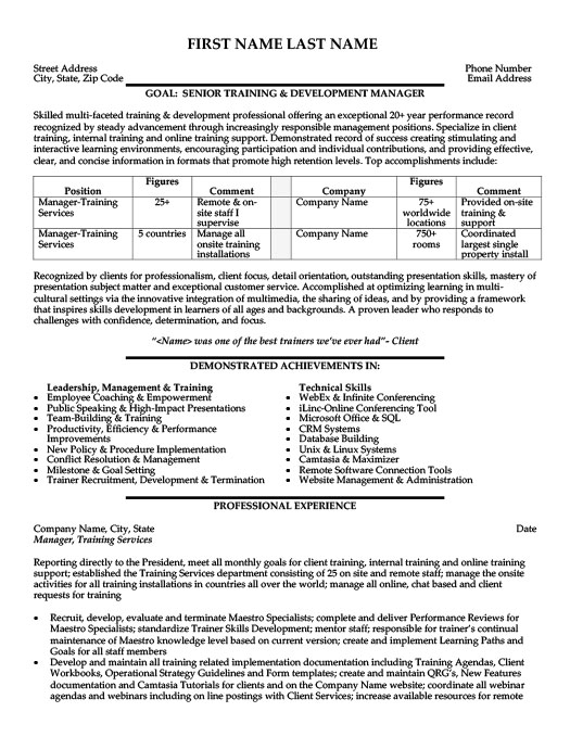Employee Training Manager Resume Template Premium Resume Samples - Training Manager Resume