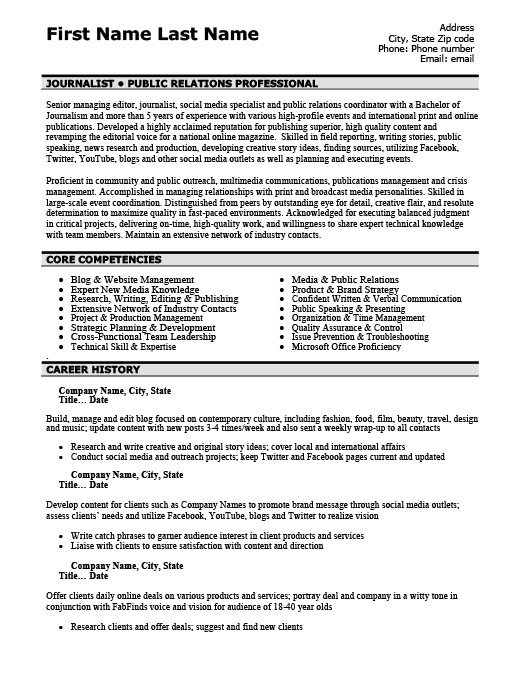 Public Relations Professional Resume Template Premium Resume - public relations resume templates