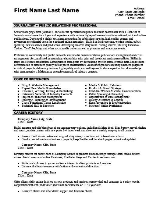 Public Relations Professional Resume Template Premium Resume - public relations resume template