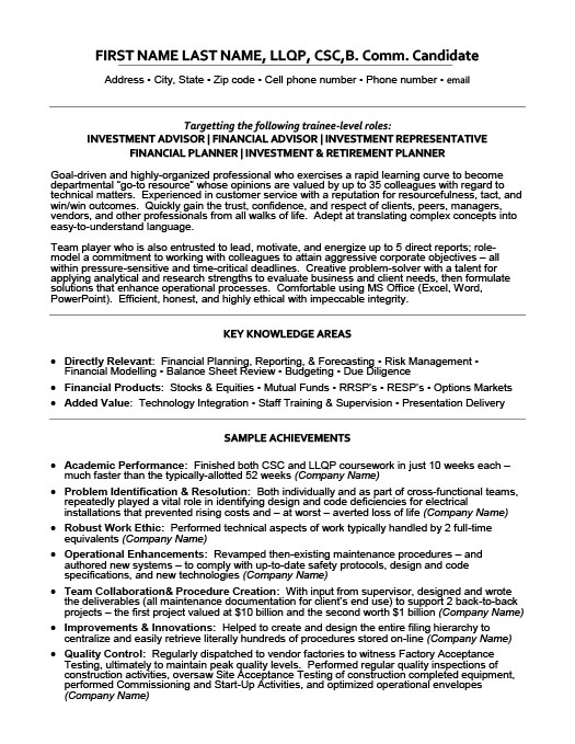 Grade my research paper - The Lodges of Colorado Springs example of - financial representative resume