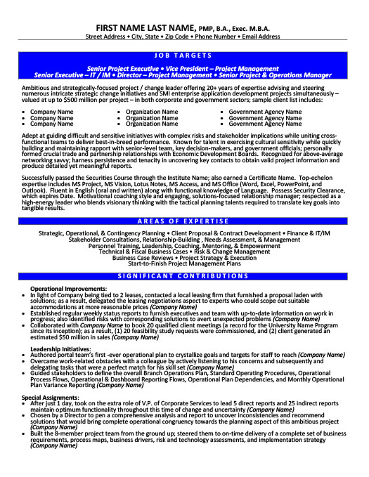 Operations Resume Templates, Samples  Examples Resume Templates 101 - vice president of operations resume