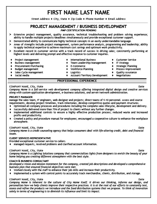 Project Manager Resume Template Premium Resume Samples  Example - project manager resume templates