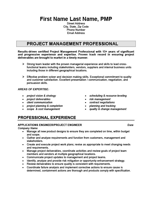 Project Engineer Resume Template Premium Resume Samples  Example - Engineer Resume Template