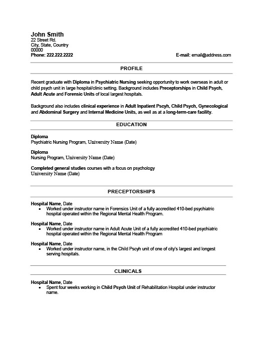 Recent Graduate Resume Template Premium Resume Samples  Example - recent graduate resume