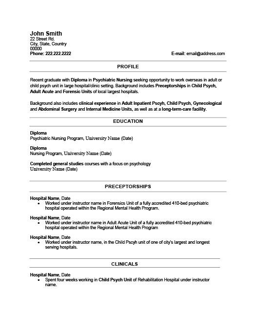Recent Graduate Resume Template Premium Resume Samples  Example - recent graduate resume examples