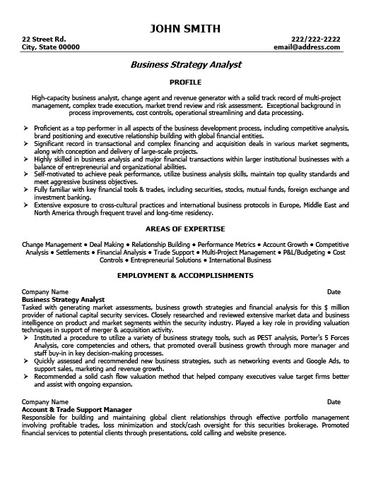 Business Strategy Analyst Resume Template Premium Resume Samples - Business Analytics Resume