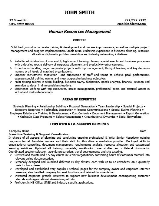 Franchise Training and Support Coordinator Resume Template Premium - training resume